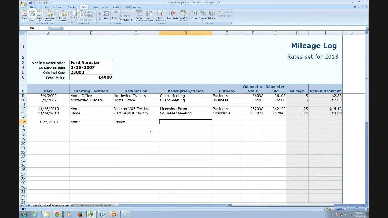 IRS Compliant Mileage Log Tutorial Mileage logging