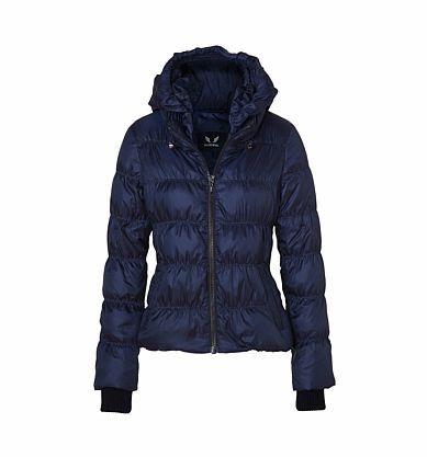 Damen Daunenjacke mit Kapuze blau Gr.44 | Hood | Jacken