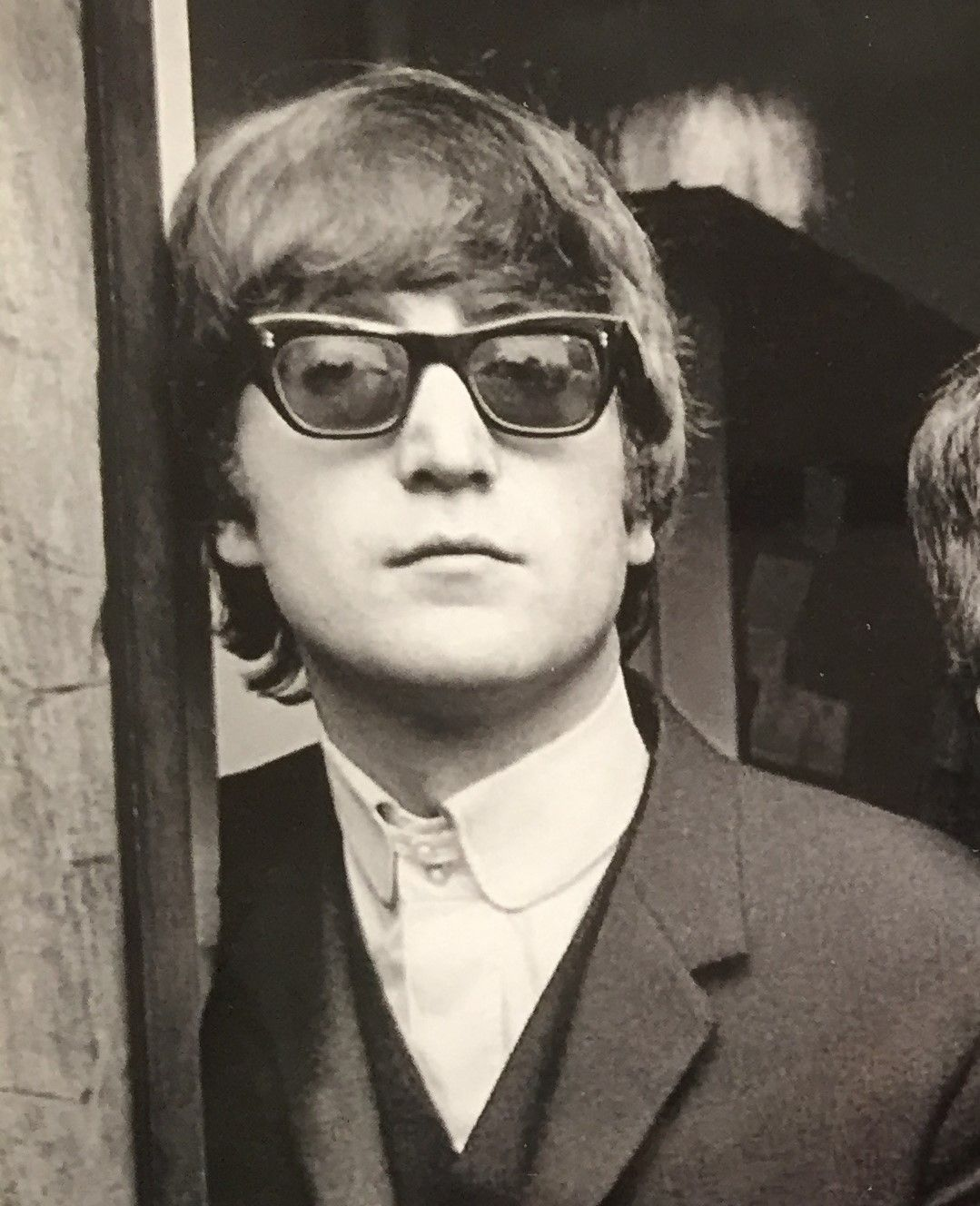John Lennon Early 60s In Sunglasses Different From His Signature Look