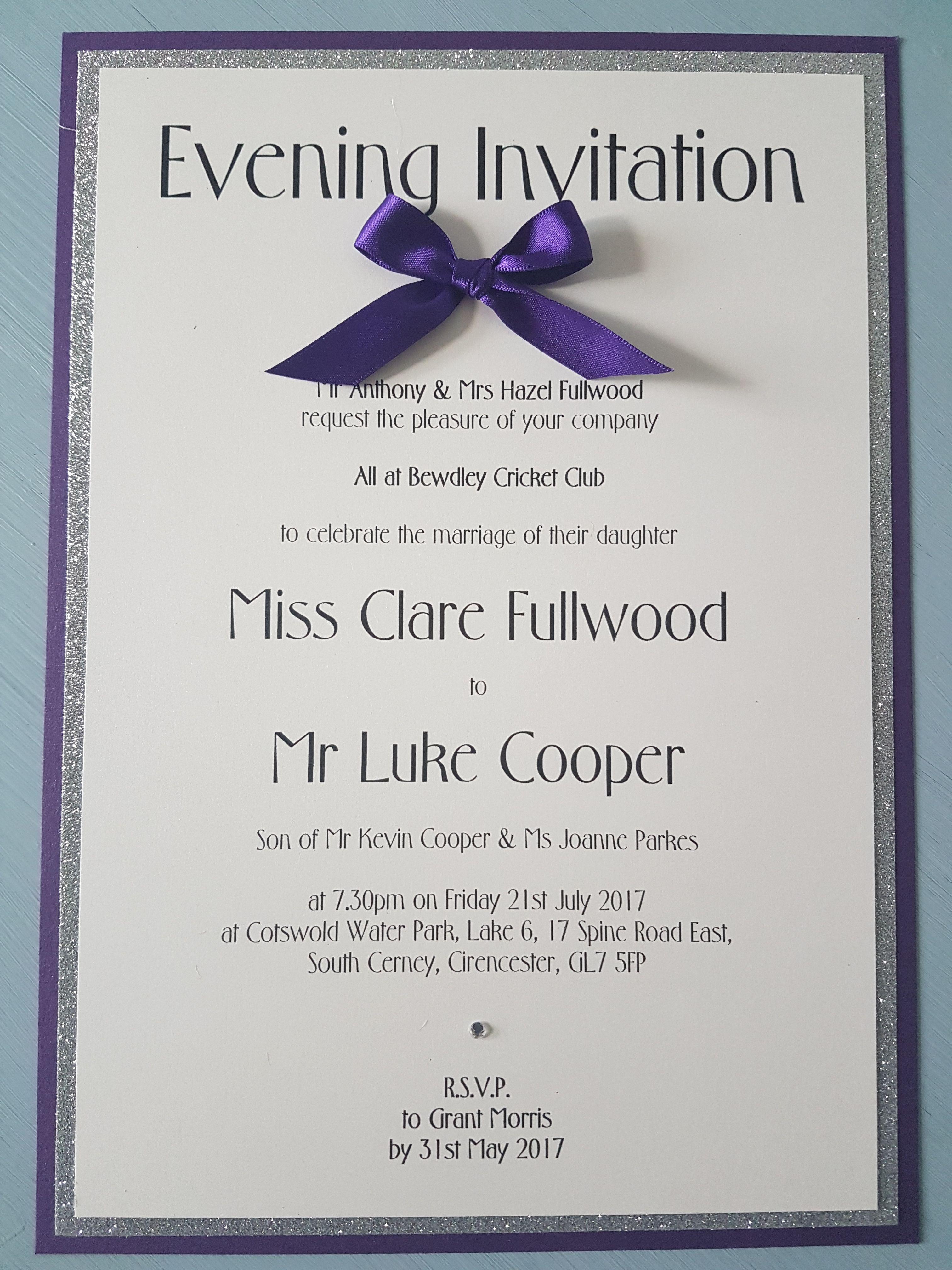 Luxury wedding invitation. UK wedding stationery ideas. Bows ...