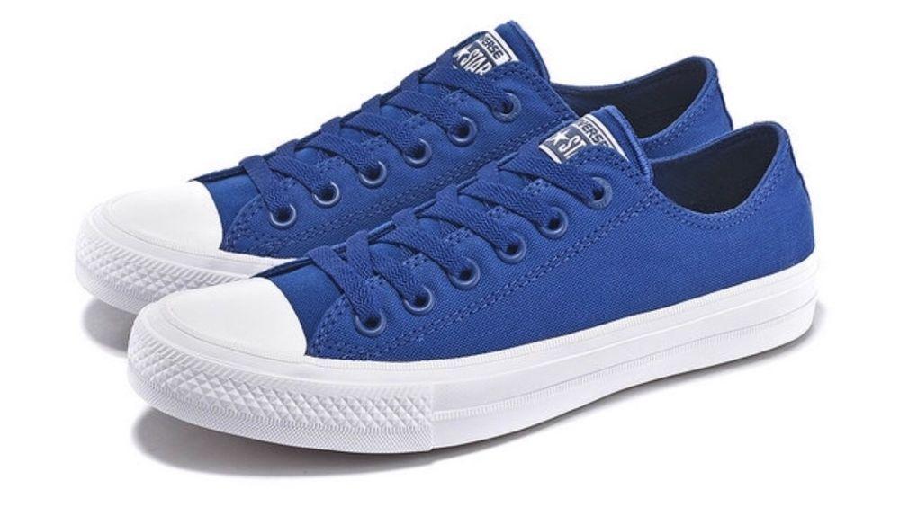 autentyczna jakość dobrze znany szeroki zasięg Converse Chuck Taylor All Star II 2 Blue Low LUNARLON Shoes ...