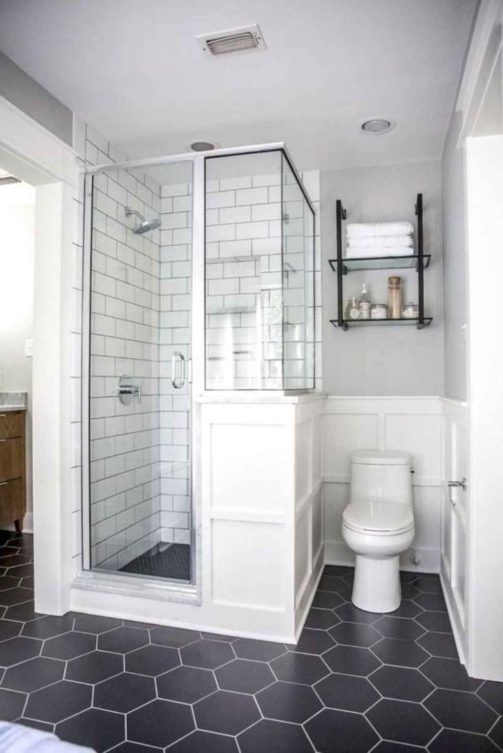 20 Insane Farmhouse Shower Tiles Remodel Ideas With Images Small Master Bathroom Small Bathroom Remodel Designs Farmhouse Shower