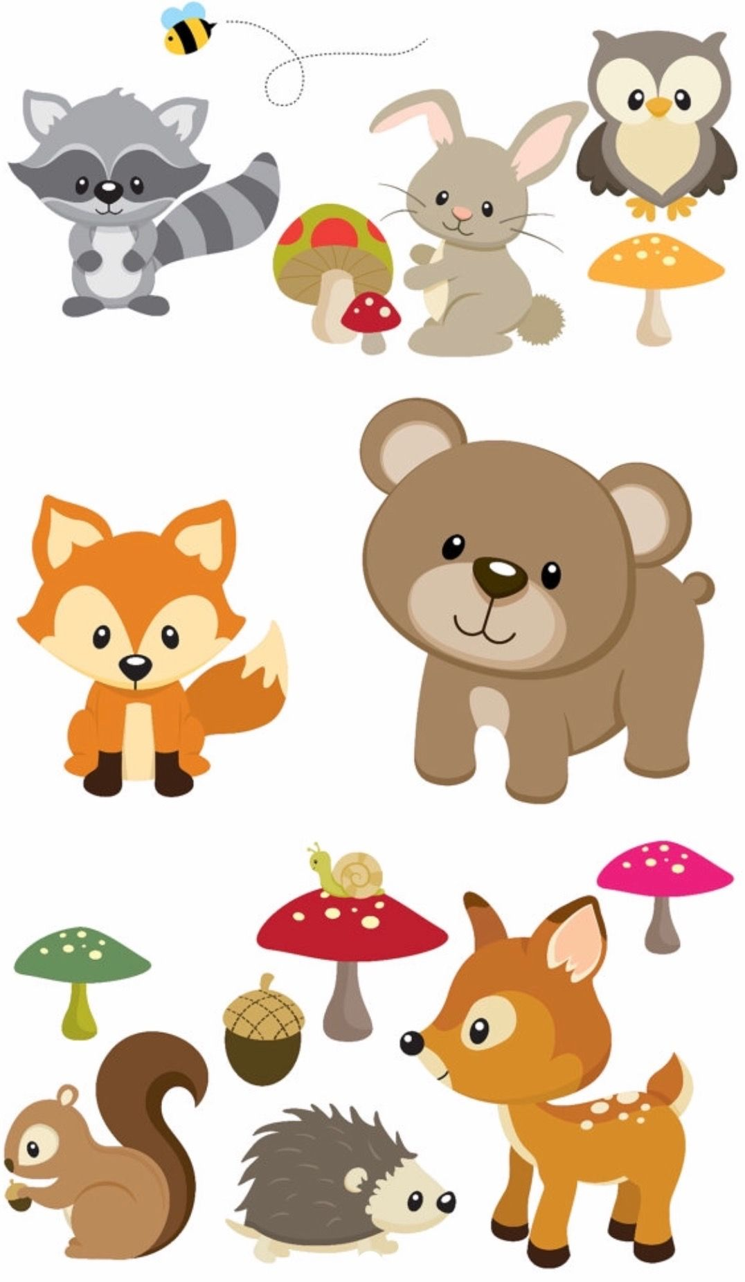 Animals Baby shower woodland, Woodland animals