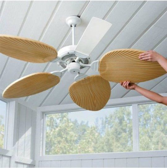 Superfan 9 Diy Ideas For Ceiling Fans Tropical Home Decor Tropical Ceiling Fans Beach House Interior