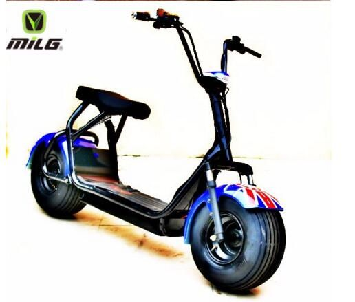 18 inch 60v 1000w harley electric scooter bicycle with fat. Black Bedroom Furniture Sets. Home Design Ideas