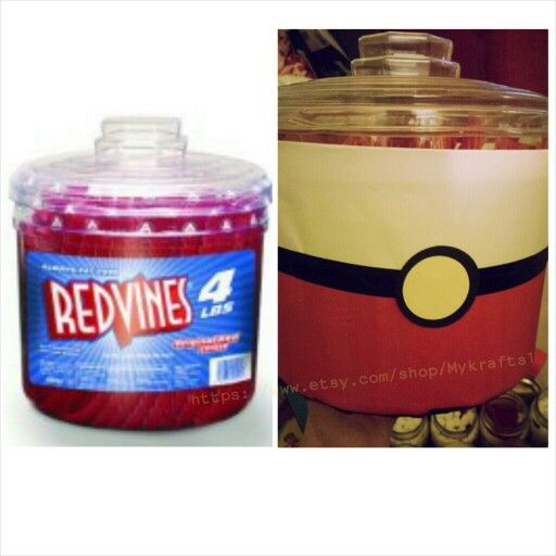 POKEMON REDVINES CANDY JAR Save in glass jars and utilize the ...