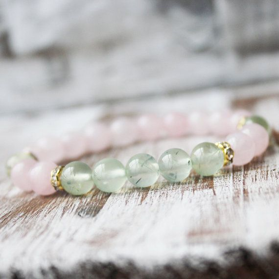 Hey, I found this really awesome Etsy listing at https://www.etsy.com/uk/listing/229576360/rose-quartz-prehnite-healing-bracelet
