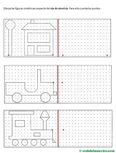 Simetría para niños de primaria Ejercicios de simetría Web del maestro y Hojas de cálculo