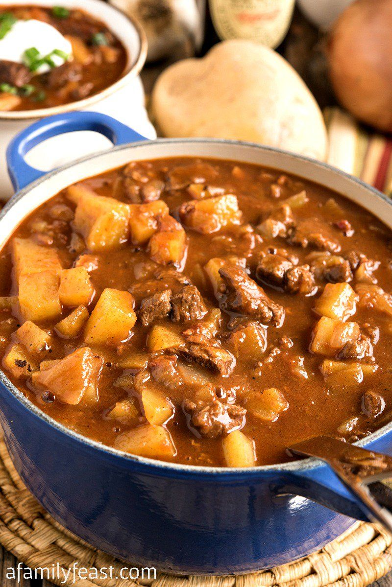 Hearty And Delicious Beef Goulash Soup Includes Tender Chunks Of Beef And Potatoes In A Rich Tomato And Paprika Bro Beef Goulash Soup Beef Goulash Goulash Soup