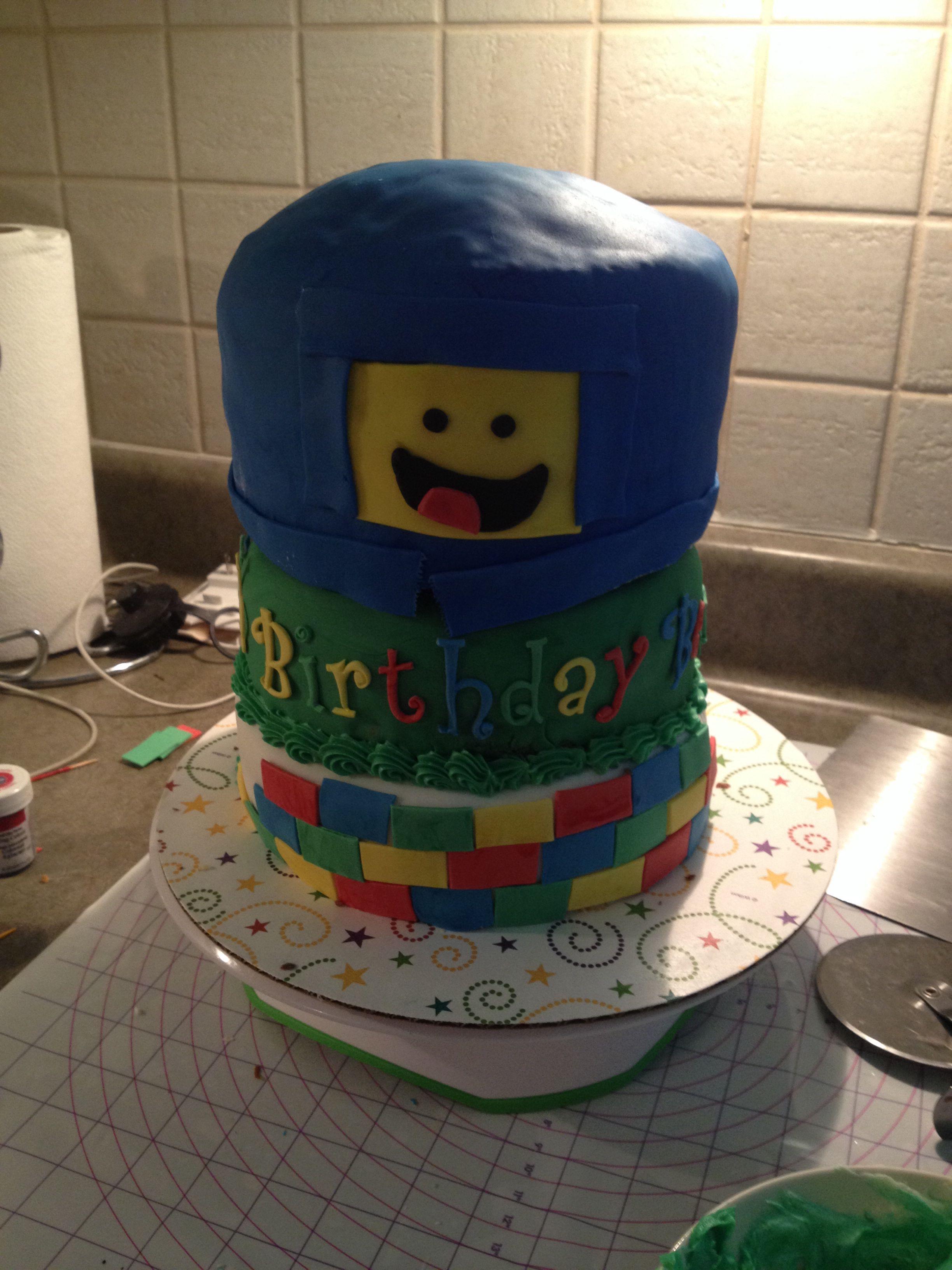 lego birthday cake instructions