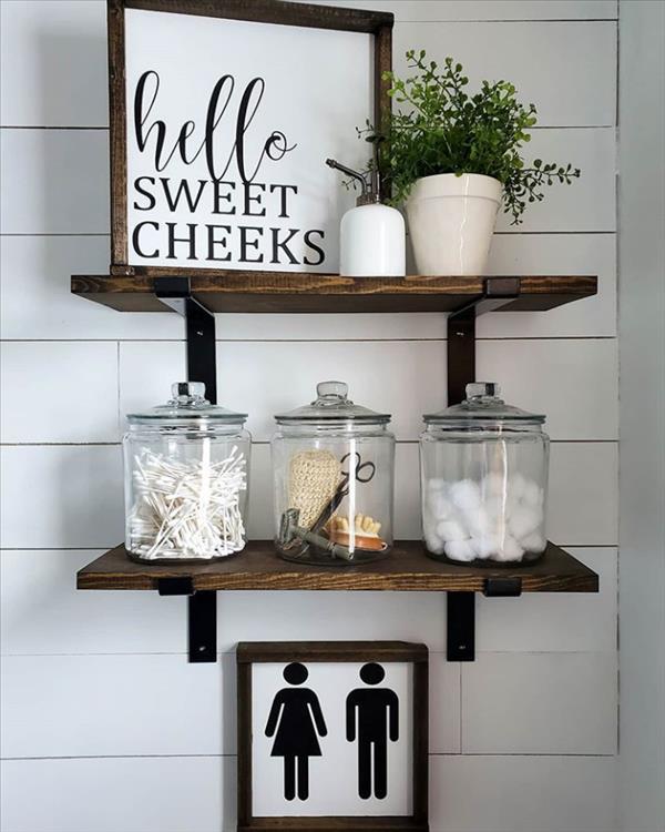 21 Brilliant Modern Bathroom Shelves Decor Ideas For Better Storage Latest Fashion Trends For Woman Bathroom Shelf Decor Wooden Bathroom Shelves Shelves Over Toilet