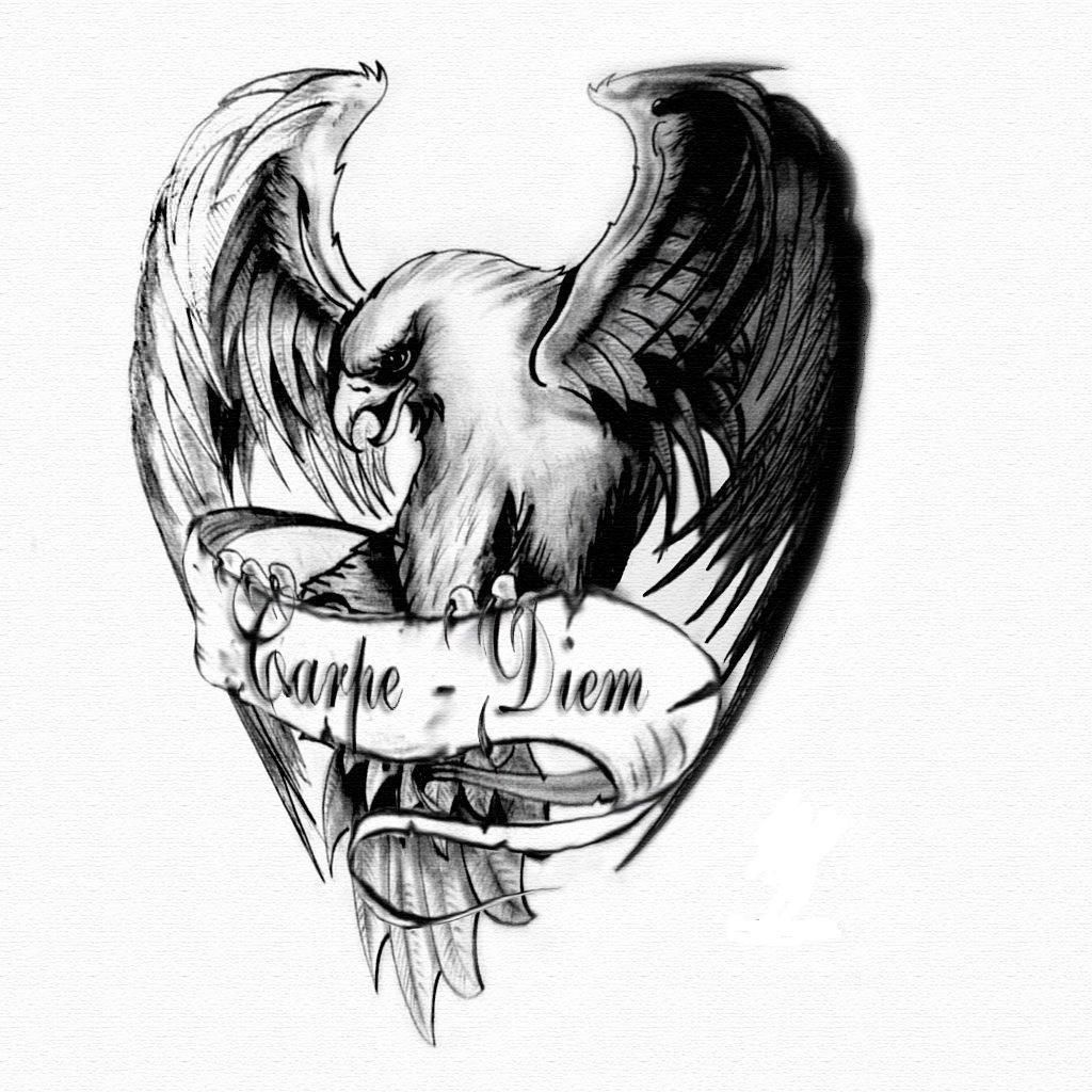 Eagle Tattoo Drawings | www.galleryhip.com - The Hippest Pics | Art ...