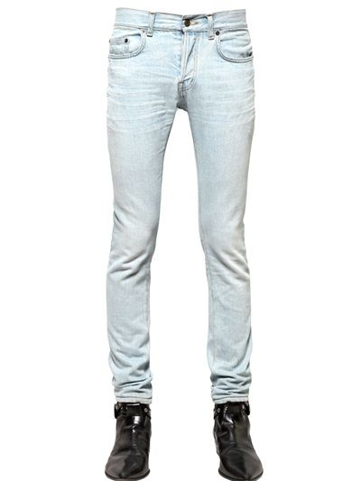 15 cm Stretch Denim Jeans Spring/summer Saint Laurent Wiki Huge Surprise Sale Online y1Z4oD