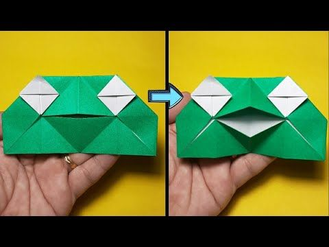 Photo of Talking Frog Origami (Action Origami) TUTORIAL