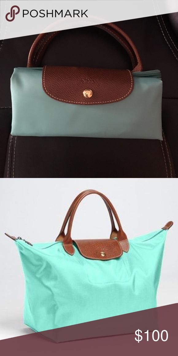 Longchamp mint travel bag   Longchamp, Bag and Customer support 47f24ea40f
