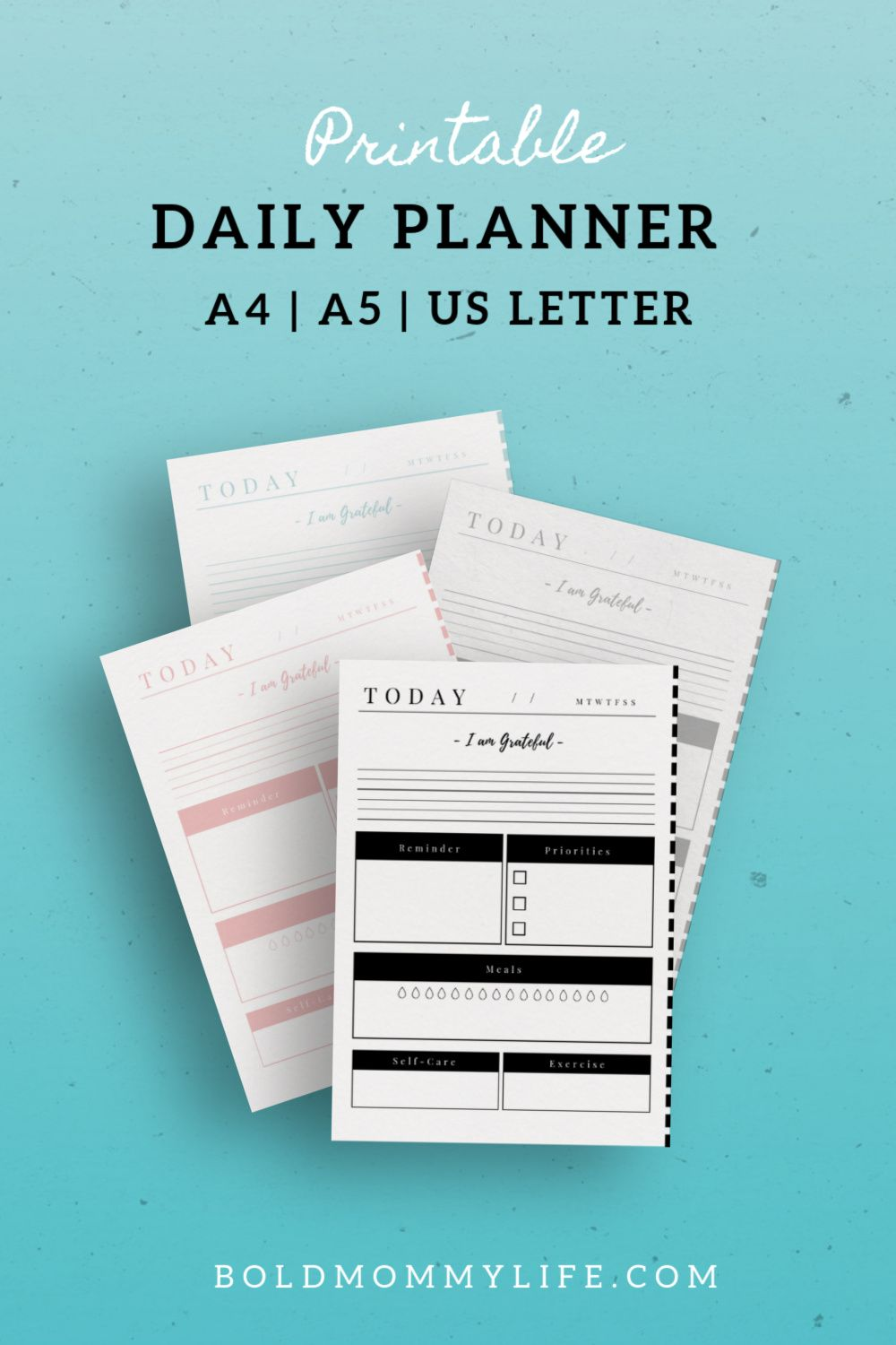Minimal Daily Planner Printable Daily planner, Blog