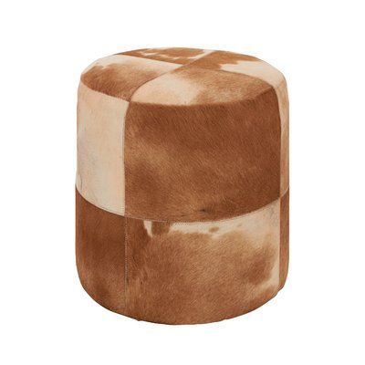 Union Rustic Nyberg Pouf Upholstery Color: Brown/Ivory | Products ...