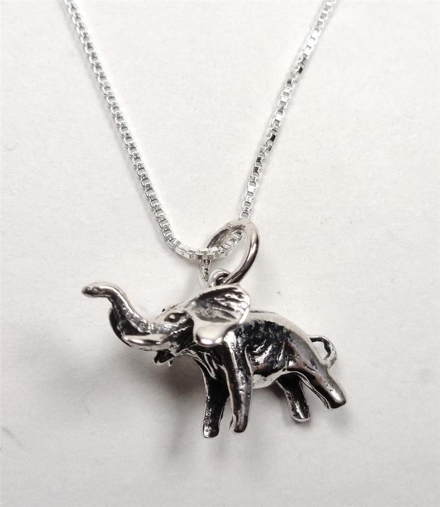 Details about sterling silver elephant good luck majestic animal details about sterling silver elephant good luck majestic animal nature pendant necklace aloadofball Image collections
