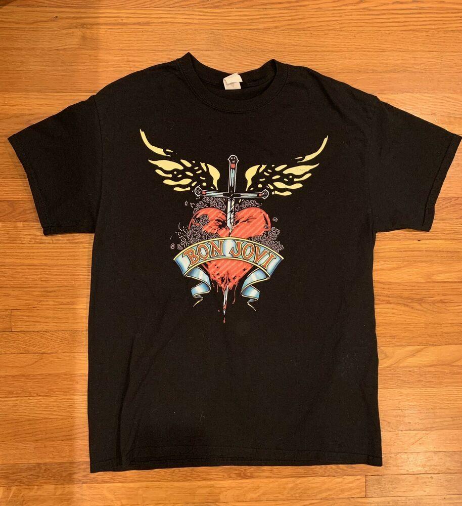 Bon Jovi Official Band Mercy 2016 Tshirt fashion