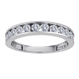 Sterling Silver 1 2ct Tdw Channel Set Diamond Wedding Band H I I2