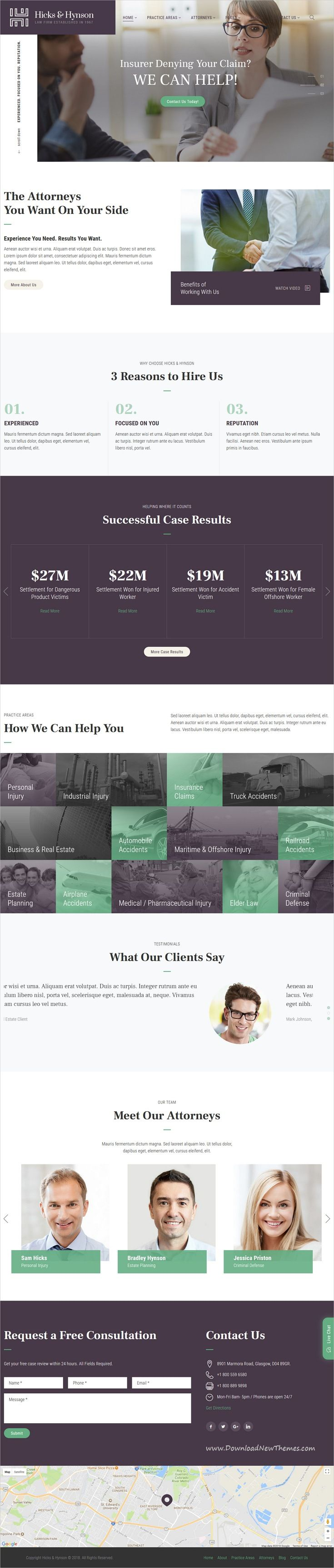 Hicks & Hynson - Law Firm HTML Template