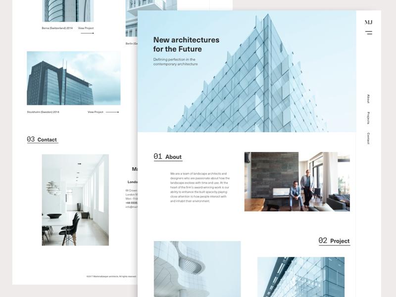Martens&Jasper architecture studio by Frank Seno #Design Popular #Dribbble #shots