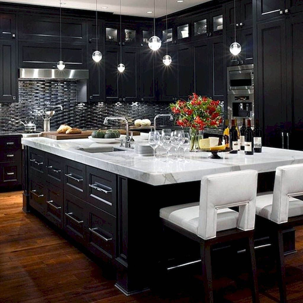 Luxury Kitchen Design Ideas We D Copy If Money Were No Object Modern Black Kitchen Modern Kitchen Cabinets Interior Design Kitchen