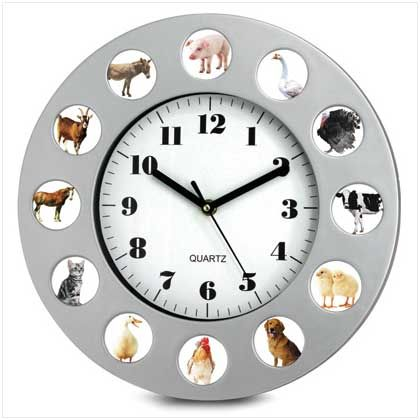 Elegant This Farm Animal Clock Has 12 Different Authentic Animal Sounds At The Top  Of Each Hour! Oinking At Quacking At Mooing At 3 And Meowing At The Singing  ... Amazing Design