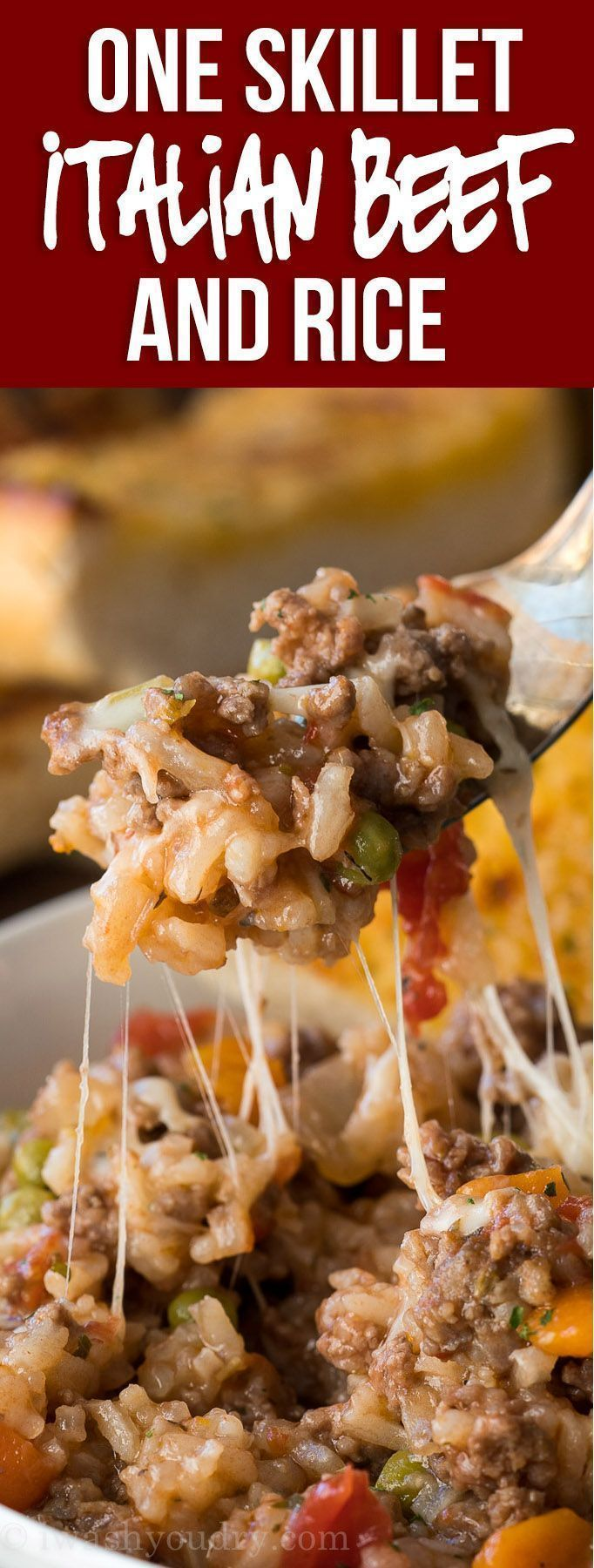 Italian Beef And Rice Skillet Recipe Beef Recipes Easy Beef Recipes For Dinner Recipes