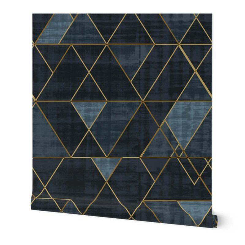 Clarkson Geometric Removable Peel And Stick Wallpaper Panel In 2020 Geometric Removable Wallpaper Peel And Stick Wallpaper Wallpaper Panels