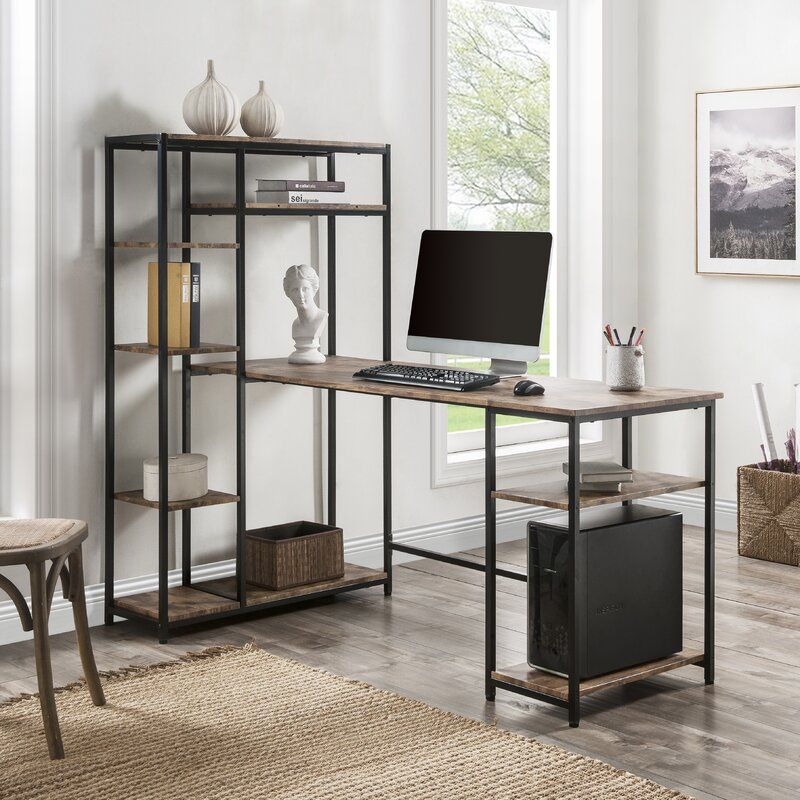 Padraig Desk Home Office Computer Desk Large Office Desk Modern Shelving