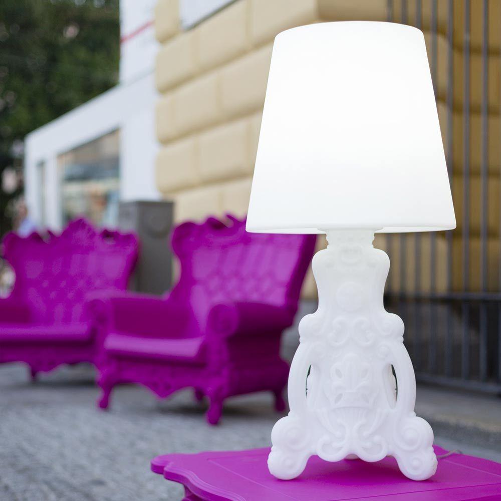 Lampada tavolo luminosa Slide Lady of Love di design made
