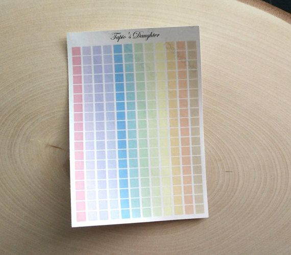 Pastel square planner stickers 216 stickers in by TapiosDaughter