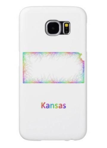 Rainbow Kansas Map Samsung Galaxy S Cases Rainbow - State map of usa