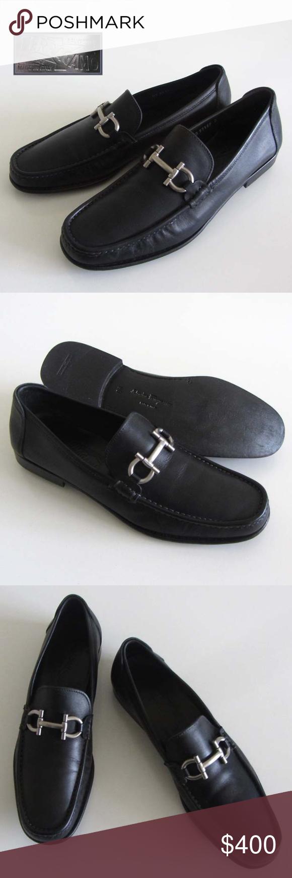 Ferragamo Cancun Gancini Bit Blk Loafers 9 D Shoes Loafers Ferragamo Dress Shoes Men [ 1740 x 580 Pixel ]