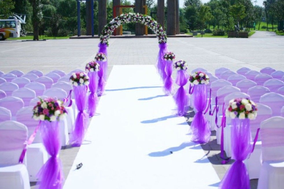 Purple Themed Wedding Decorations : Deep purple wedding decorations ideas decoration