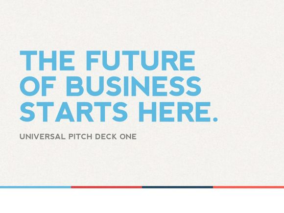 universal pitch deck one powerpointpitchstock on creative, Modern powerpoint