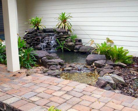 Beautiful Backyard Ponds and Waterfalls Garden Ideas (44 Mi futuro - cascada de pared