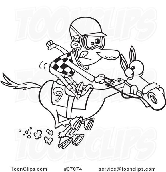 Horse Racing Cartoon Clip Art Cartoons