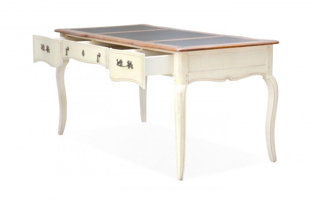 schreibtisch vintage birke massiv antik look wei lackiert schreibtische pinterest. Black Bedroom Furniture Sets. Home Design Ideas