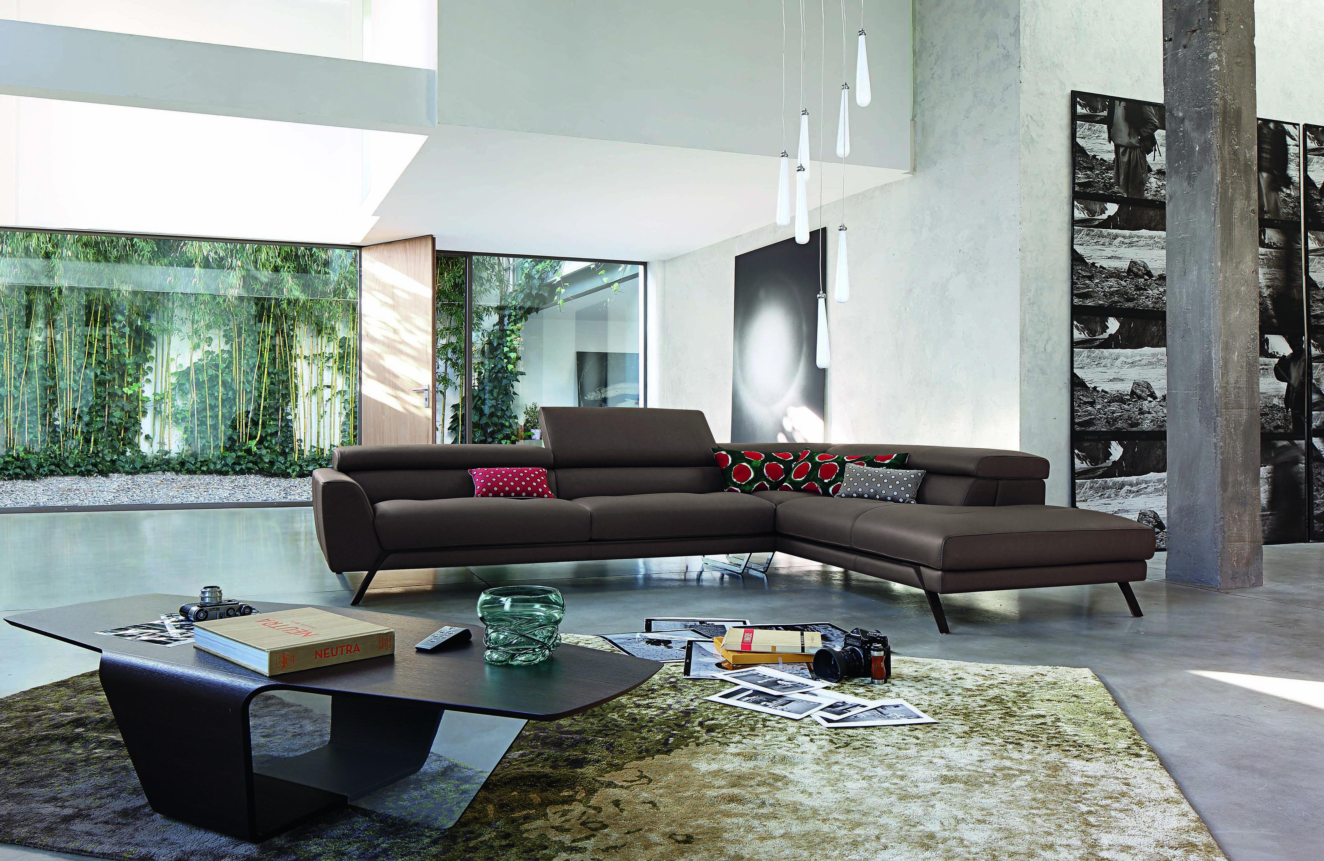 Roche Bobois - ASTORIA modular sectional sofa in leather - design ...