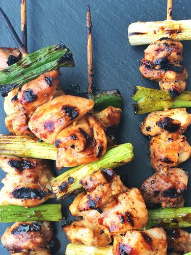 Internationally inspired grilled meats-on-stick
