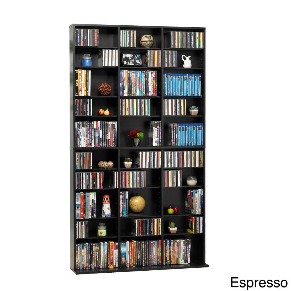 Oskar Media Tower 1080 CD/504 DVD Cabinet | Overstock™ Shopping ...