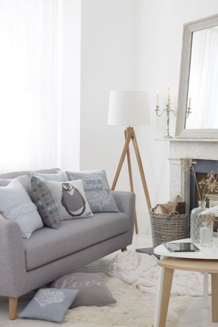 neutrale Farbgestaltung im Wohnraum Wohnzimmer Pinterest - farbgestaltung wohnzimmer blau