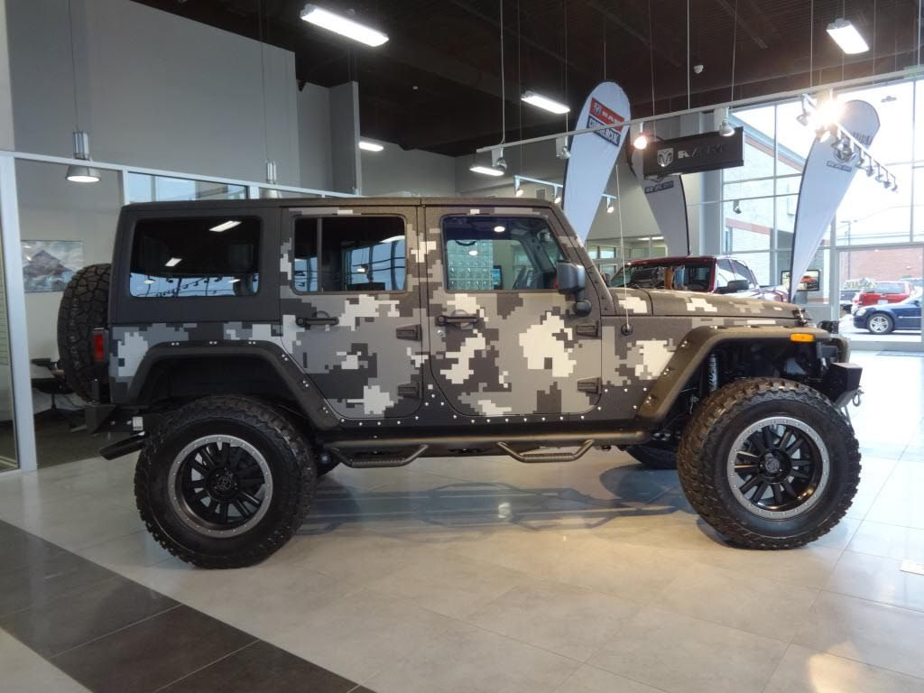 Jeep Rubicon Unlimited With Kevlar Digital Camo Jeep