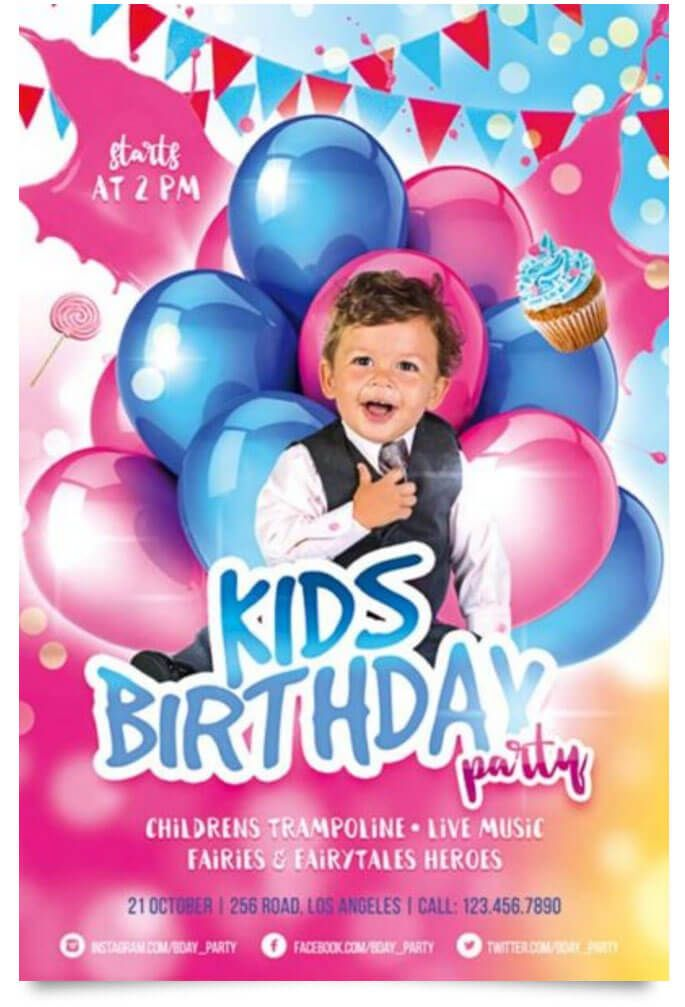 15 Free Birthday Party Flyer Templates | Party Flyer, Template And Flyer  Template