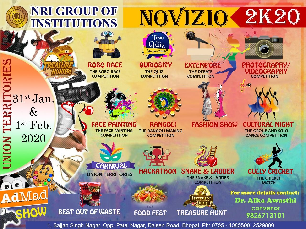 Novizio 2k20 The Annual Fest Nri Group Of Institutions In 2020