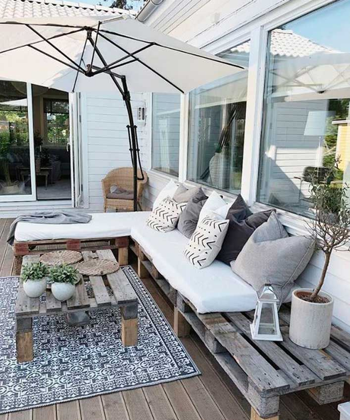 Ideas para decorar tu jardín, patio o terraza con palets