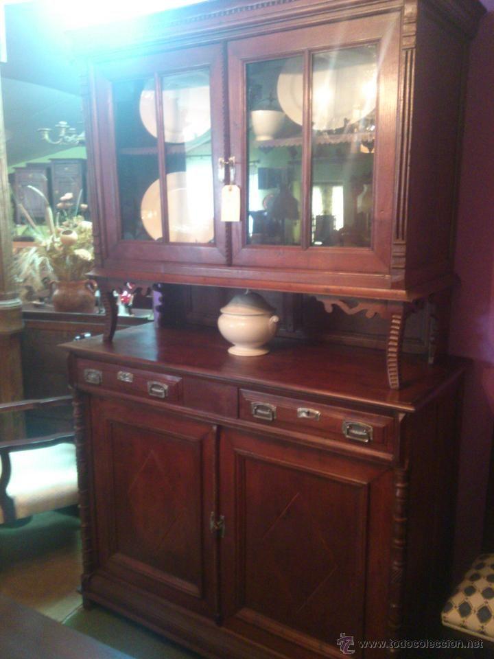 Chinero de casta o r stico antig edades muebles - Muebles de castano ...