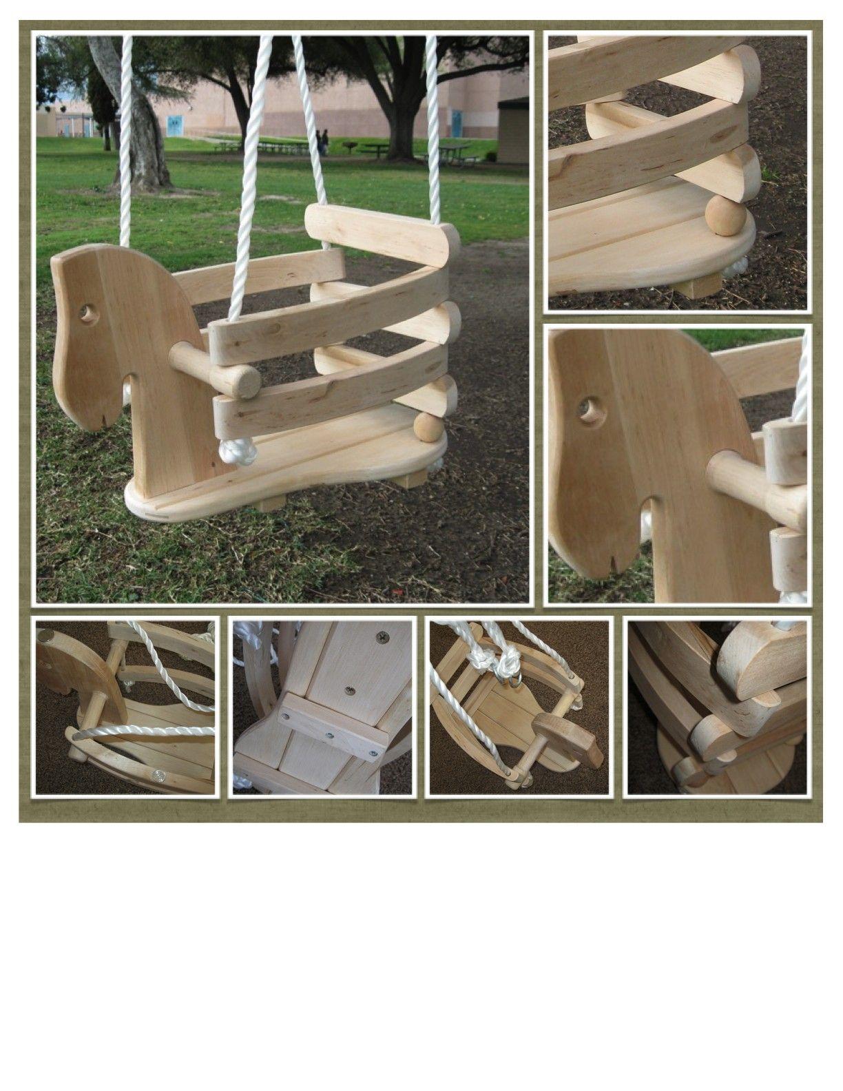 Child Wooden Horse Swing Kids Outdoor Furniture Outdoor Furniture Plans Horse Swing
